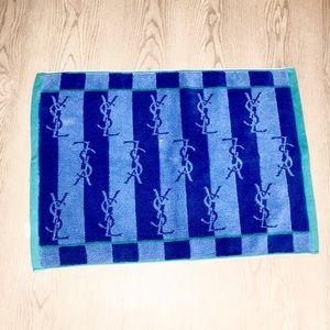 NEW Yves Saint lauren blue bath mat rug